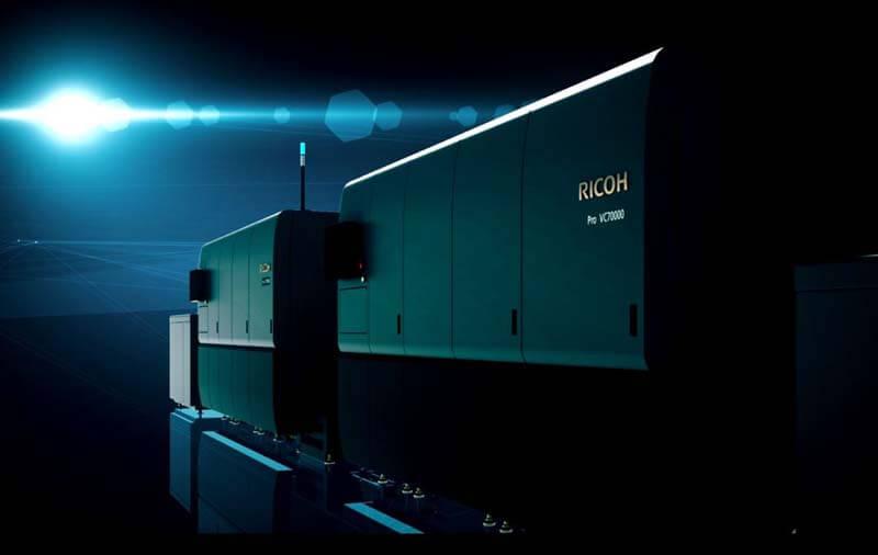 Ricoh ipari tintasugaras technológia